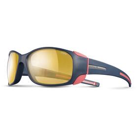 Julbo W's Monterosa Zebra Sunglasses Dark Blue/Coral-Yellow/Brown